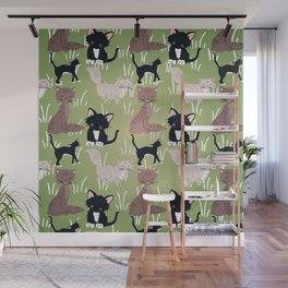 Cats Meadow Wall Mural