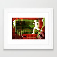 running Framed Art Prints featuring Running by Robin Curtiss