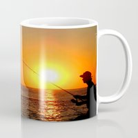 fishing Mugs featuring Fishing  by PSimages