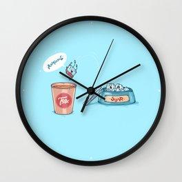 Kamikaze ( Concept Funny illustrations) Wall Clock