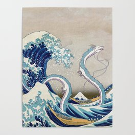 Haku and the Great Wave Poster