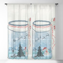 Christmas Sheer Curtain