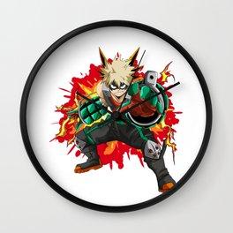 Katsuki Bakugo BOOM - My Hero Academia Wall Clock
