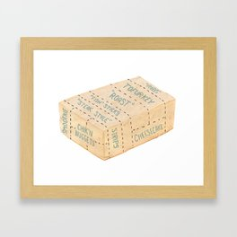 Tofu Cuts Framed Art Print