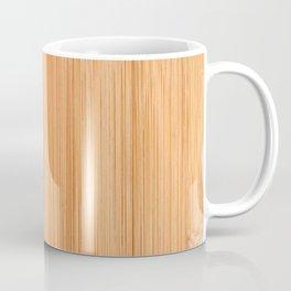 Cool elegant light brown bamboo wood print Coffee Mug