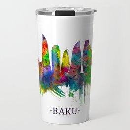 Baku Azerbaijan Skyline Travel Mug