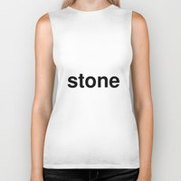 stone Biker Tanks featuring stone by linguistic94