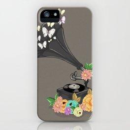 Gramaphone Bloom iPhone Case