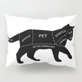 Cat Petting Guide Pillow Sham