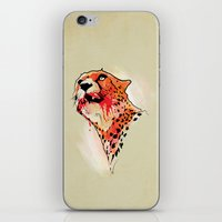 cheetah iPhone & iPod Skins featuring CHEETAH by KUI29