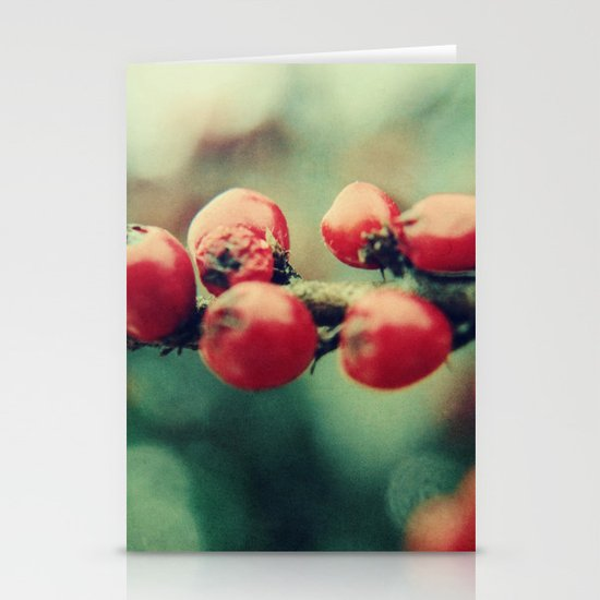 Red Winter Berries Stationery Cards