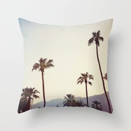 Palm Trees in the Desert Throw Pillow