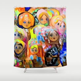 A Gaggle of Girls Shower Curtain