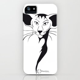 Mean look with a gentle heart iPhone Case
