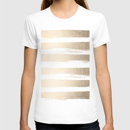 White Gold Sands Painted Thick Stripes T-shirt