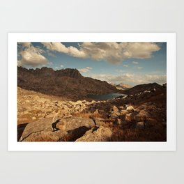 Wind River Mountains and Alpine Lake Art Print