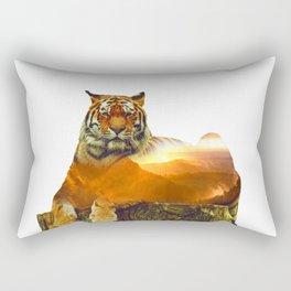 Tiger Double Exposure Rectangular Pillow