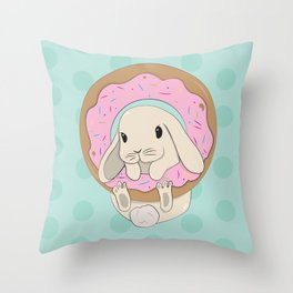Sprinkles the Bunny Throw Pillow