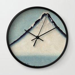 Hokusai, the blue fuji- hokusai,manga,japan,fuji, blue fuji,Shinto Wall Clock