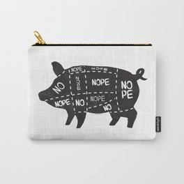 alternative pig meat cut chart vegan and vegetarian Carry-All Pouch