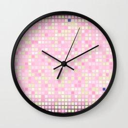 Abstract pink mosaic pattern Wall Clock