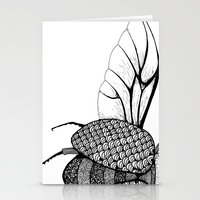 beetle Stationery Cards featuring Beetle by Freja Friborg