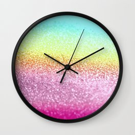 UNICORN GLITTER Wall Clock