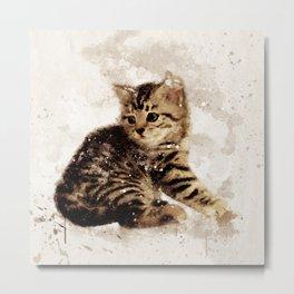 Cute little kitten Metal Print