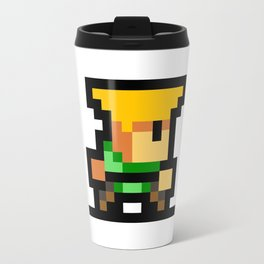 Minimalistic Guile - Pixel Art Travel Mug
