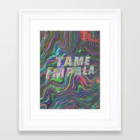 tame impala Framed Art Prints featuring TAME IMPALA by Blaz Rojs