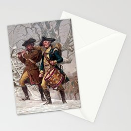 Revolutionary War Soldiers Marching Stationery Cards