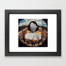 She's in the Middle of it All Framed Art Print