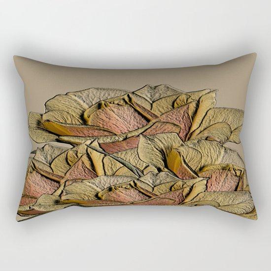 Elegant Copper and Bronze Roses Rectangular Pillow