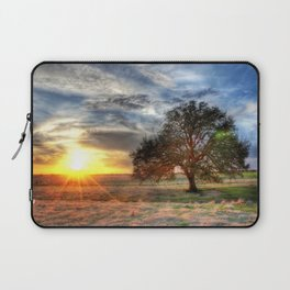 Lonely tree in a field Laptop Sleeve