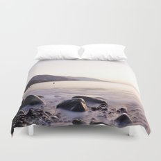 Water Washing Over the Rocks at Sunset, Waterville Beach, County Kerry, Ireland Duvet Cover
