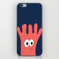 greg guillemin iPhone & iPod Skins featuring Monster Greg by Chelsea Herrick