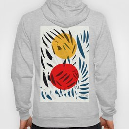 Yellow and Red Abstract Art Graphic Design Hoody