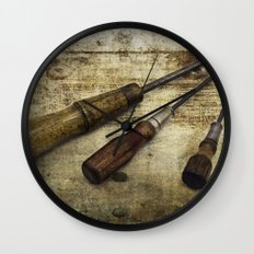 Vintage Screwdrivers Wall Clock