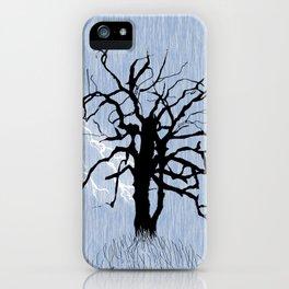 Gnarled Tree and Lightning iPhone Case