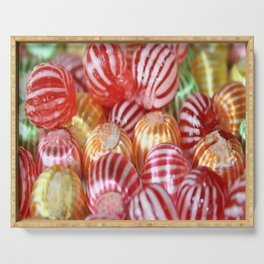 Striped Candy  Serving Tray