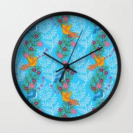 Sweet Lovey Birdies Wall Clock