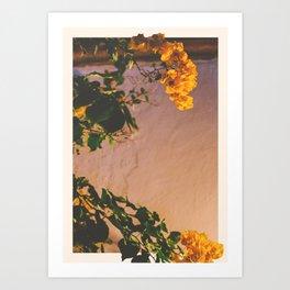 Flores Amarillas Art Print