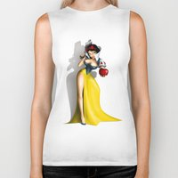 snow white Biker Tanks featuring Snow White by Greg Guillemin