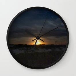 Moon Rise in Rodanthe North Carolina Wall Clock