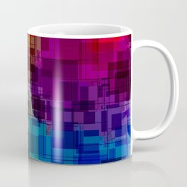 Vibrant Rainbow Geometric Pattern Coffee Mug