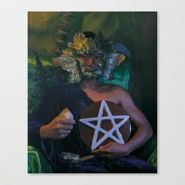 The Man of Pentacles Canvas Print