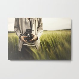 Rollei in the fields of the UK Metal Print