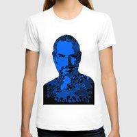 steve jobs T-shirts featuring Steve Jobs blue by Rebecca Bear