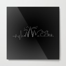 Hiking Heartbeat Running From a Bear Dog Metal Print
