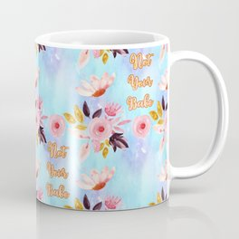 Cute Floral 'Not Your Babe' print Coffee Mug